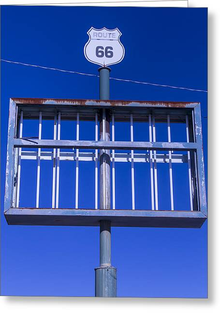 Old Signage Greeting Cards - Old Route 66 Decaying Sign Greeting Card by Garry Gay