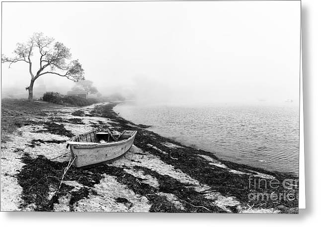 Old Rowing Boat Greeting Card by Jane Rix