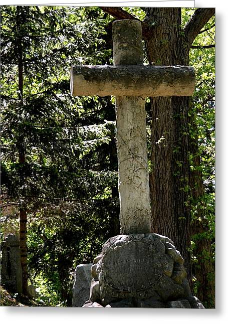 Christain Cross Greeting Cards - Old Rugged Cross Greeting Card by Richard Jenkins