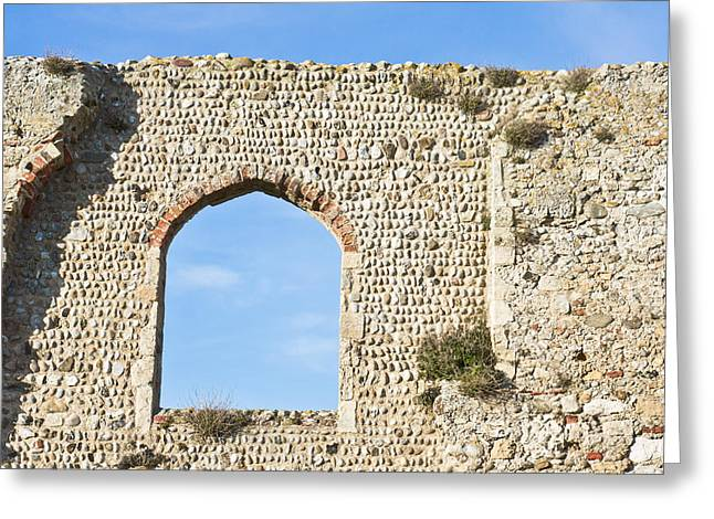 Old Relics Greeting Cards - Old ruins at Greyfriars Dunwich Uk Greeting Card by Tom Gowanlock