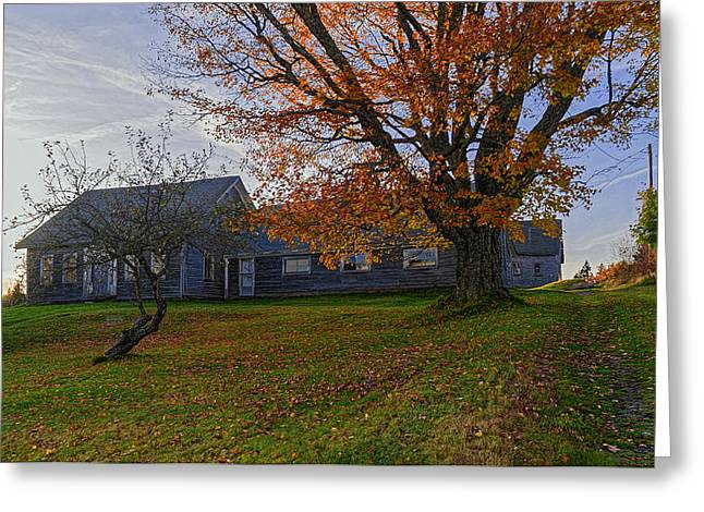 Maine Farmhouse Greeting Cards - Old Rustic Farmhouse Greeting Card by Marty Saccone