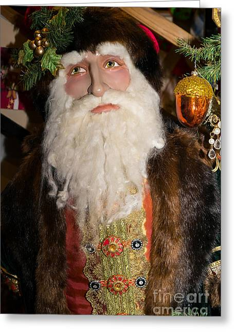 Old Saint Nick Greeting Cards - Old Saint Nick in Petaluma California USA DSC3765 Greeting Card by Wingsdomain Art and Photography