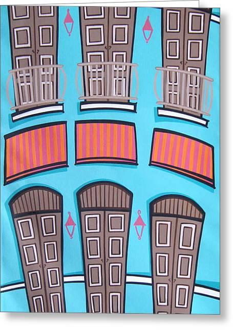 Old San Juan Greeting Cards - San Juan Alegre-2 Greeting Card by Mary Tere Perez