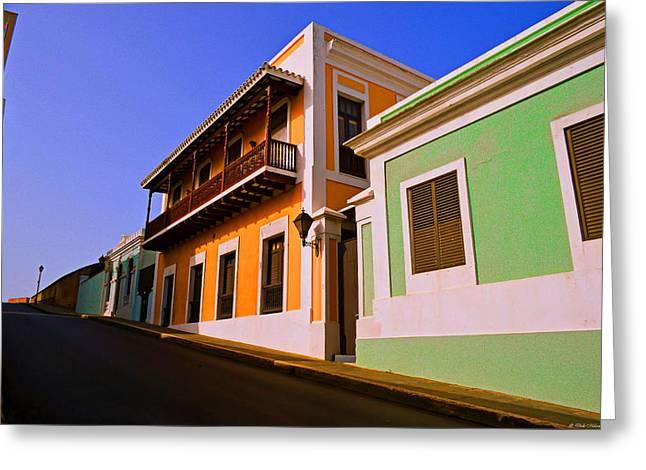 Old San Juan Greeting Card by Dado Molina