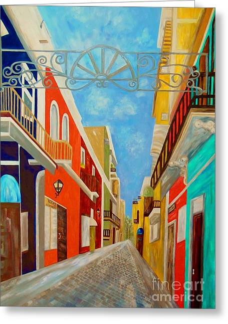 Old San Juan Greeting Card by Eloise Schneider