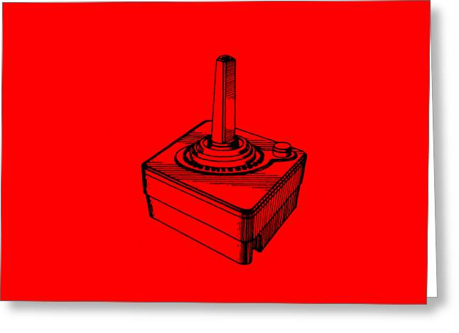 Videos Greeting Cards - Old School Atari Video Game Controller T-shirt Greeting Card by Edward Fielding