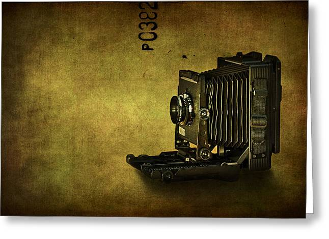 Old Camera Greeting Cards - Old School Greeting Card by Evelina Kremsdorf