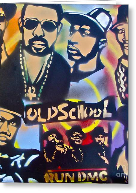 Best Sellers -  - First Love Greeting Cards - Old School Hip Hop 3 Greeting Card by Tony B Conscious