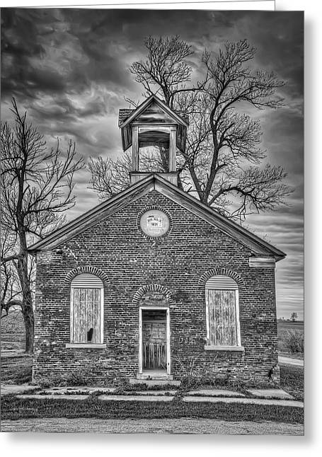 Brick Schools Photographs Greeting Cards - Old School Greeting Card by Scott Norris