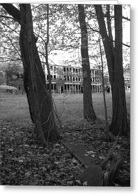 Black Lodge Greeting Cards - Old Shawnee Lodge in the Woods Greeting Card by Peter  McIntosh
