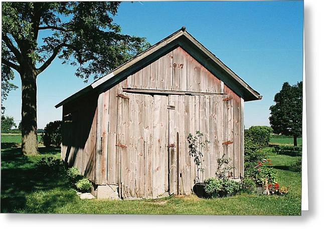 Shed Greeting Cards - Old Shed Greeting Card by Lauri Novak