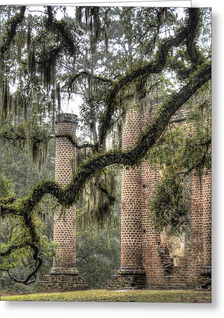 Old South Greeting Cards - Old Sheldon Church Ruins Greeting Card by Dustin K Ryan