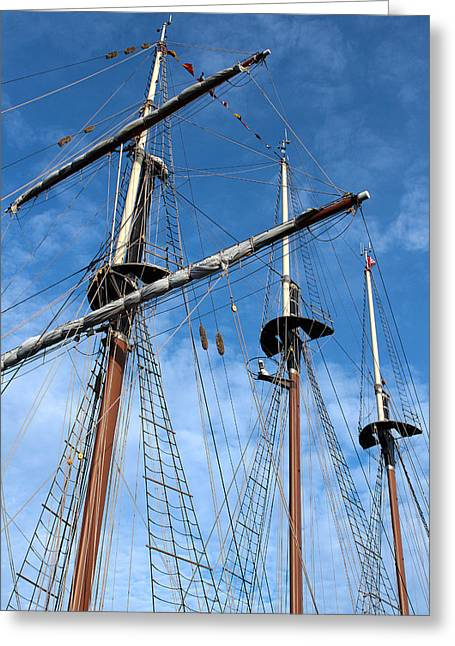 Masts Greeting Cards - Old Ship Masts Greeting Card by Christopher Scirto