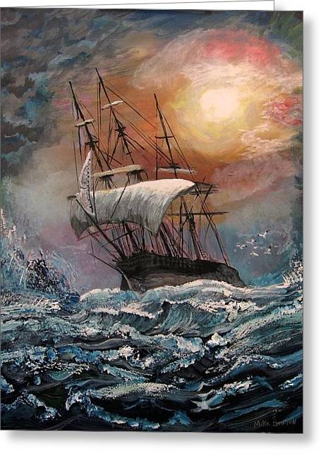Ship Pastels Greeting Cards - old Ship of Zion Greeting Card by Mike Benton