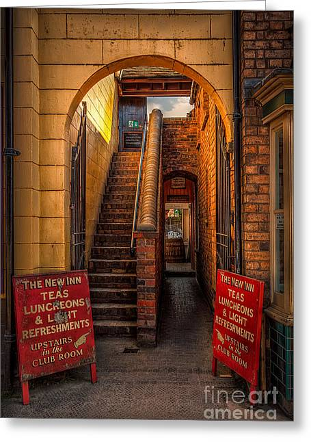 Exits Greeting Cards - Old Signs Greeting Card by Adrian Evans
