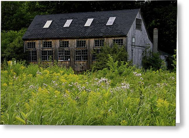 Old Maine Barns Greeting Cards - Kittery Point Maine Barn Greeting Card by Joan Kaplan