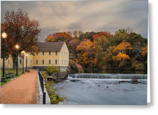 Old Slater Mill Greeting Card by Robin-lee Vieira