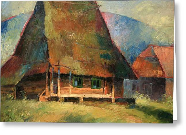 Small House Greeting Cards - Old Small House Greeting Card by Arthur Braginsky