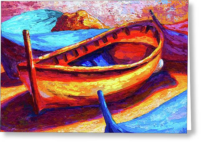 Fishing Boats Greeting Cards - Old Soul Greeting Card by Marion Rose