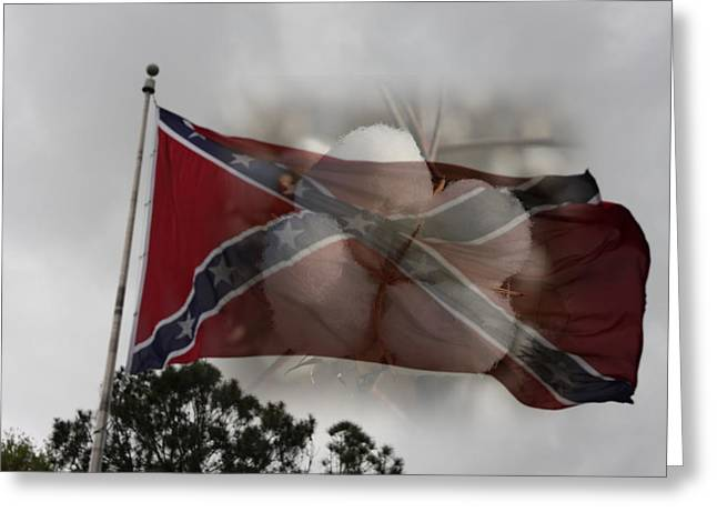 Confederate Flag Greeting Cards - Old South Greeting Card by James Campagna