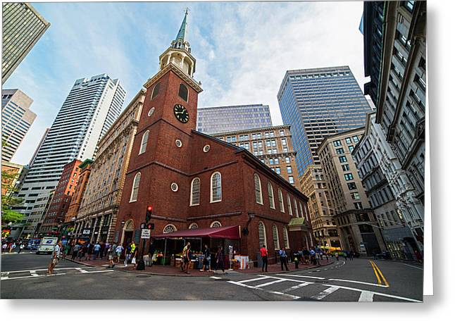 Old South Meeting House Boston Ma Greeting Card by Toby McGuire