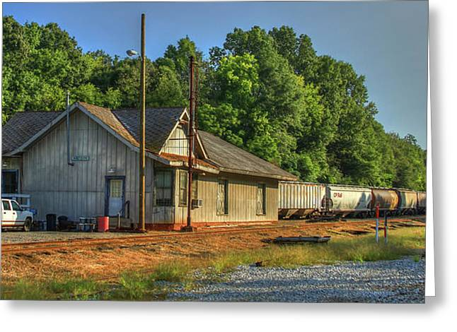 Csx Greeting Cards - Old South Trains Madison Historic Train Station Greeting Card by Reid Callaway