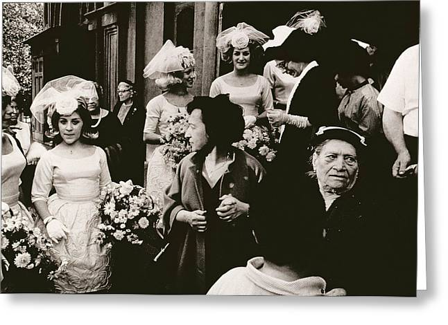Black Veil Greeting Cards - Old St Patricks   Mulberry Street Wedding Greeting Card by Nat Herz
