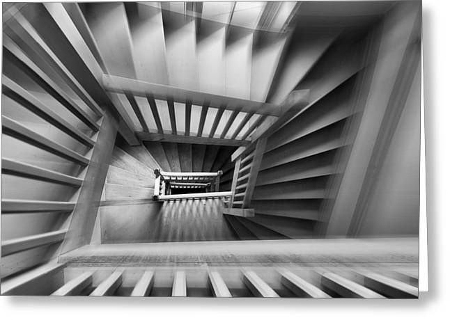 Lines Greeting Cards - Old Staircase Greeting Card by Henk Van Maastricht