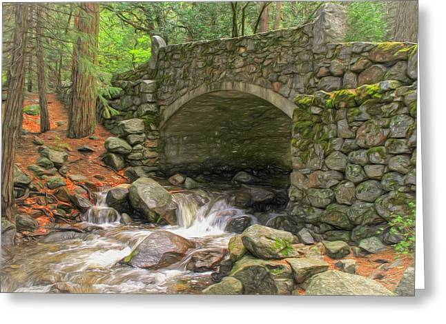Old Stone Bridge Greeting Card by Donna Kennedy