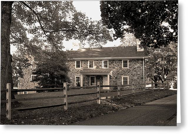 Centreville Greeting Cards - Old Stone Farmhouse Greeting Card by Gordon Beck