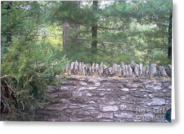 Stone Fence Greeting Cards - Old Stone Fence Greeting Card by Deborah MacQuarrie
