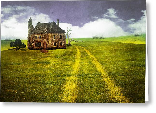 Stones Greeting Cards - Old Stone House Greeting Card by Terry Fleckney