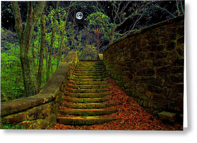 Stepping Stones Greeting Cards - The Stone Staircase Greeting Card by Michael Rucker
