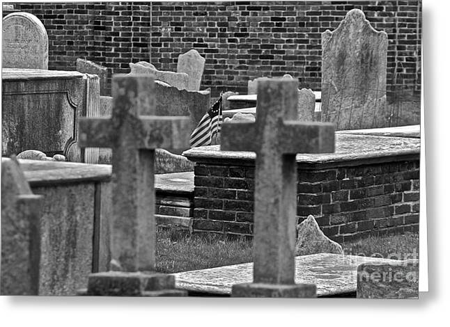 Grave Yard Greeting Cards - Old Stones Greeting Card by Rick  Monyahan