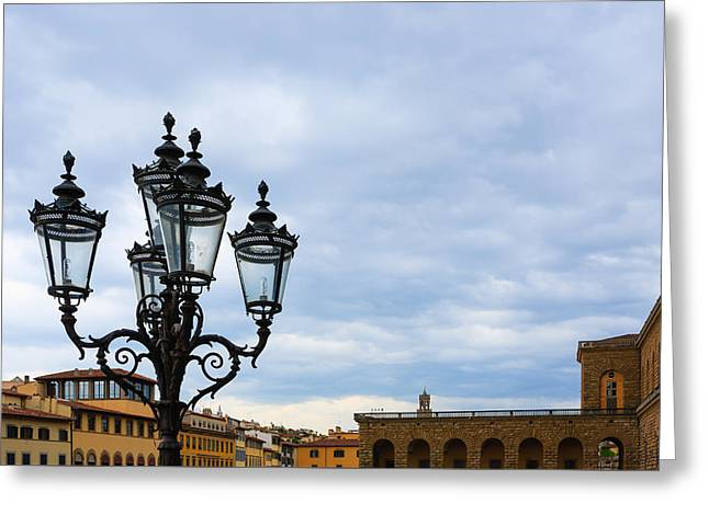 Old Street Lamp Greeting Card by Davide Guidolin