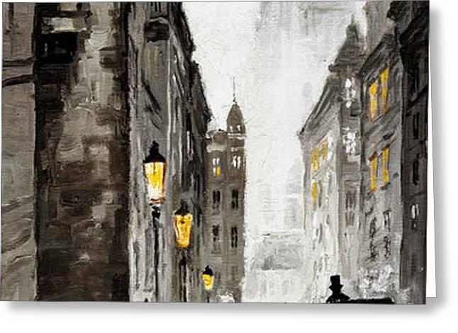 Old Street Greeting Card by Yuriy  Shevchuk