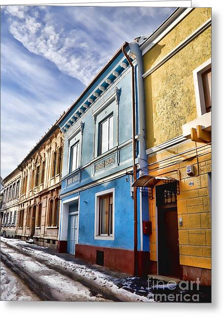 Old Houses Greeting Cards - Old streets Greeting Card by Gabriela Insuratelu