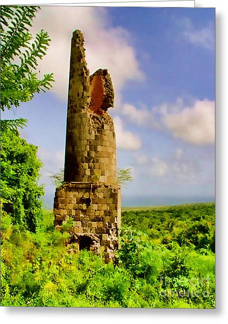 Saint Christopher Mixed Media Greeting Cards - Old Sugar Mill Greeting Card by Louise Fahy