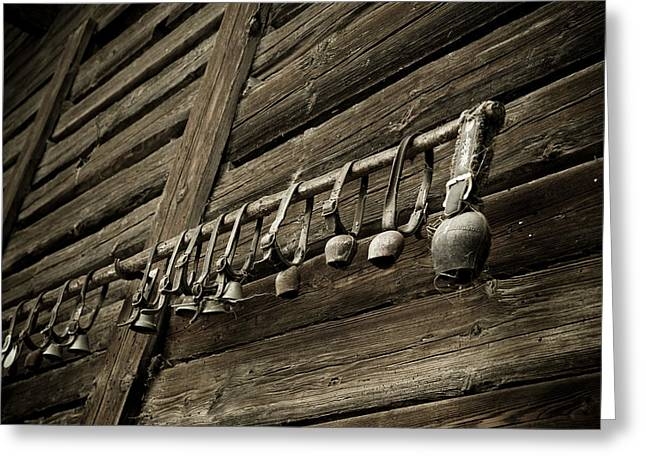 Old Swiss Cowbells Greeting Card by Frank Tschakert