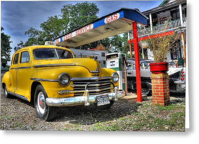 Esso Greeting Cards - Old Taxi 1 Greeting Card by Todd Hostetter