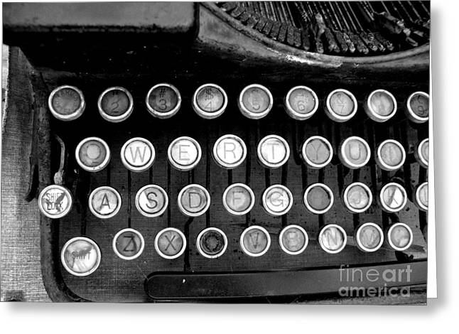 Typewriter Greeting Cards - Old Tech Low Tech Greeting Card by Mark Grayden