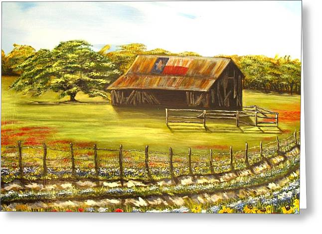 Old Barns Greeting Cards - Old Texas Barn Greeting Card by Melissa Torres