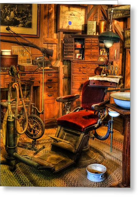 Checkup Greeting Cards - Old Time Dentist Office -  dentistry -  surgery - II Greeting Card by Lee Dos Santos