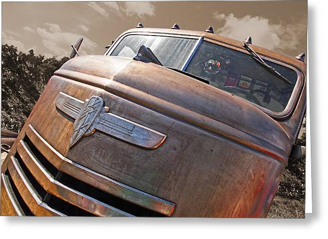 Old Pickup Greeting Cards - Old Timer - 42 Chevy Greeting Card by Gill Billington