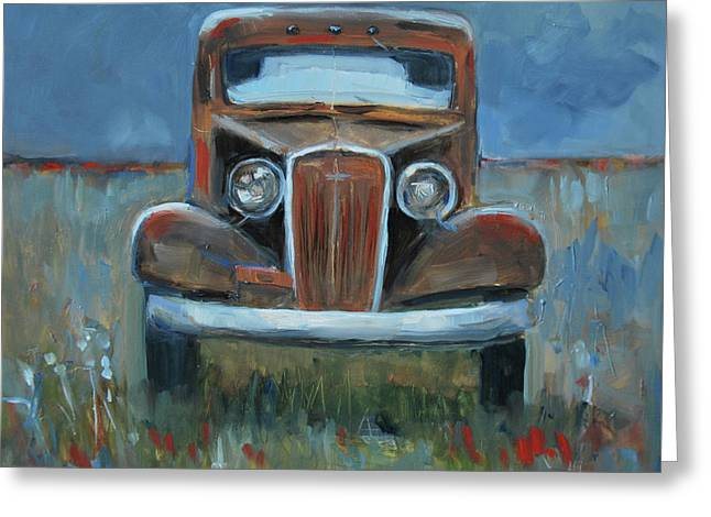 Old Timer Greeting Card by Billie Colson