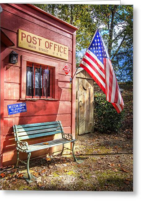 Tennessee Barn Greeting Cards - Old Timey Post Office Greeting Card by Debra and Dave Vanderlaan
