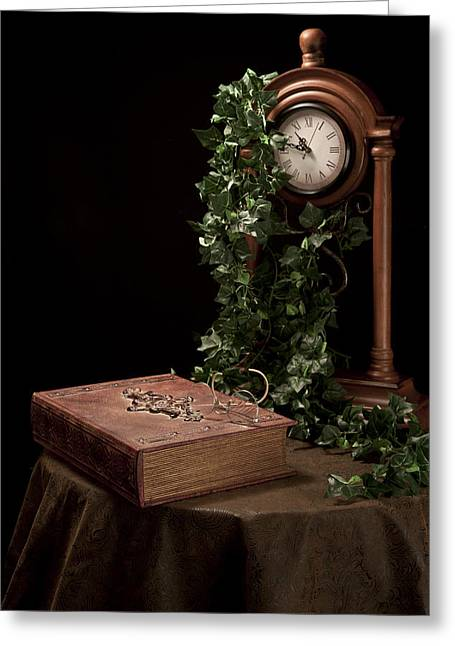 Large Clock Greeting Cards - Old Tome I Greeting Card by Tom Mc Nemar