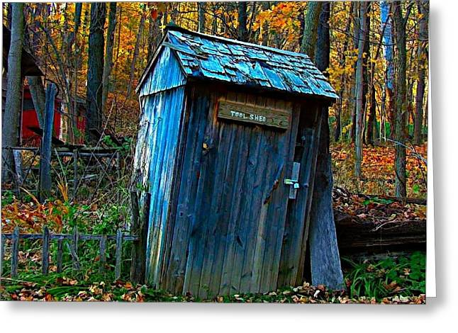 Julie Riker Dant ography Photographs Greeting Cards - Old Tool Shed Greeting Card by Julie Dant