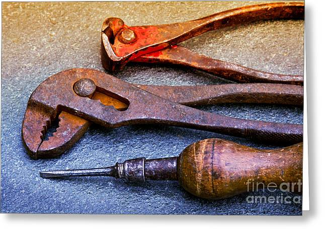 Tool Greeting Cards - Old Tools Greeting Card by Lutz Baar