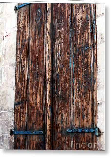 Cypriotic Greeting Cards - Old Town Door Greeting Card by John Rizzuto